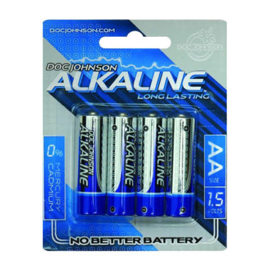 Doc Johnson AA Alkaline Batteries 4 Pack