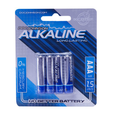 Doc Johnson AAA Alkaline Batteries 4 Pack