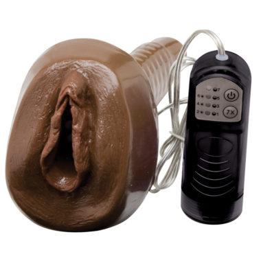 Adam and Eve Black Vibrating PleasureSkin Pussy