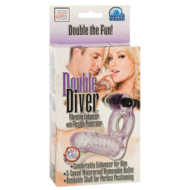 California Exotic Double Diver Cock Ring With Anal Penetrator