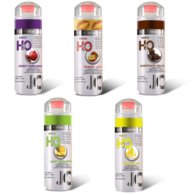 System JO H2O Water-Based Flavored Lubricant Assorted
