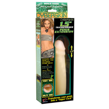 TLC CyberSkin 1.5 Inch Transformer Penis Extension Natural