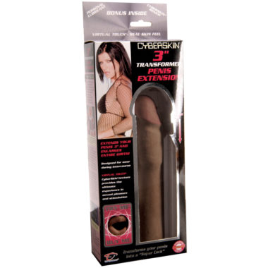TLC CyberSkin 3 Inch Transformer Penis Extension Black