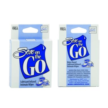 Sex on the GO Lubricant Infused Intimate Wipes