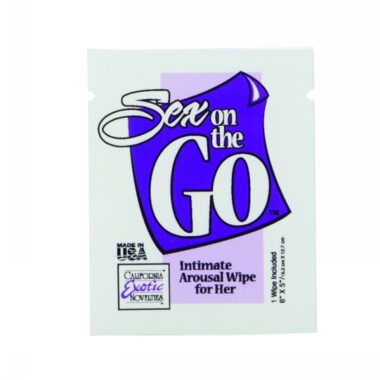 Sex on the GO Intimate Arousal Wipes for Her