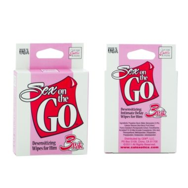 Sex on the GO Desensitizing Wipes for Him