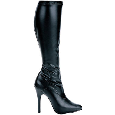 Ellie Shoes Laura Boots with 5 inch Heel Stretch Top with Inner Zipper