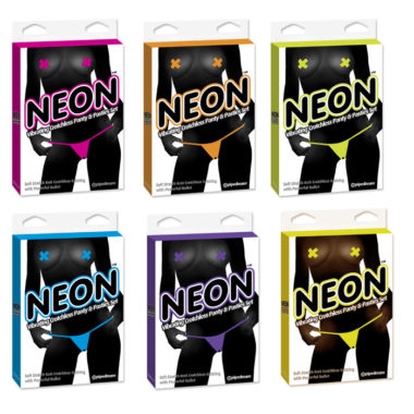 Pipedream Neon Vibrating Crotchless Panty
