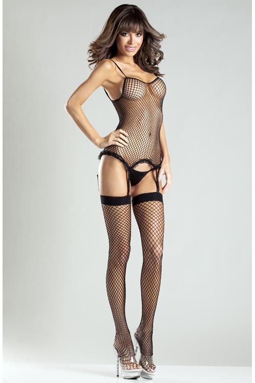 Be Wicked Spandex Net Body Stocking