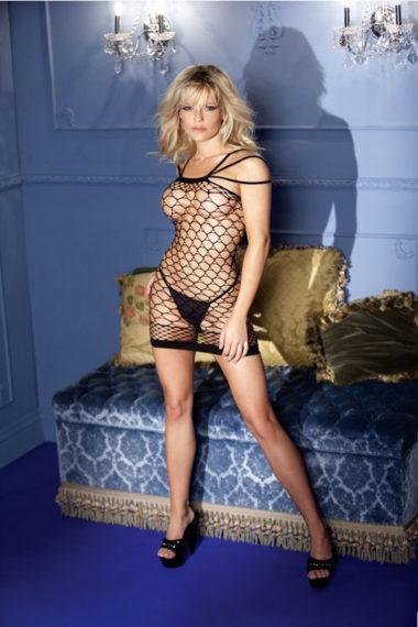 Be Wicked Sexy Diamond Net Mini Dress