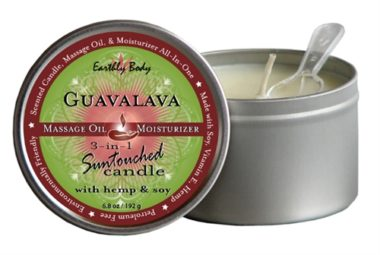 Earthly Body 3 In 1 Suntouched Candle Guavalava