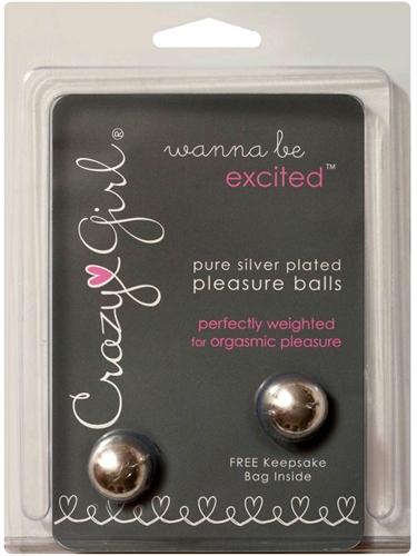 Classic Erotica Crazy Girl Pure Silver Pleasure Balls