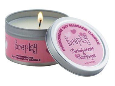 Classic Erotica Foreplay Pheromone Candle Strawberries & Champagne
