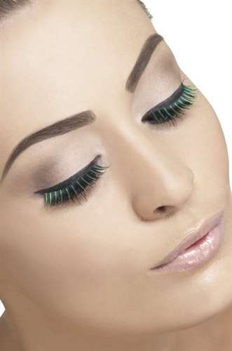 Fever Lingerie Eyelashes Black & Green