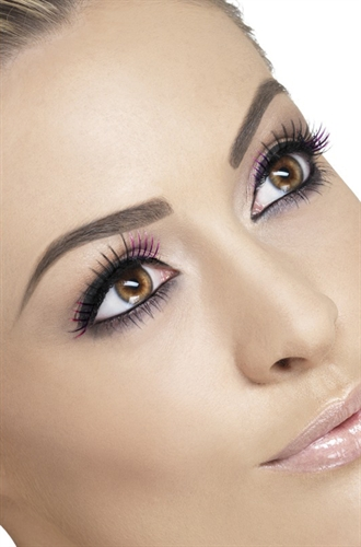 Fever Lingerie Eyelashes Black & Purple