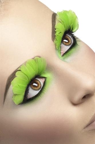 Fever Lingerie Eyelashes Feather Neon Green