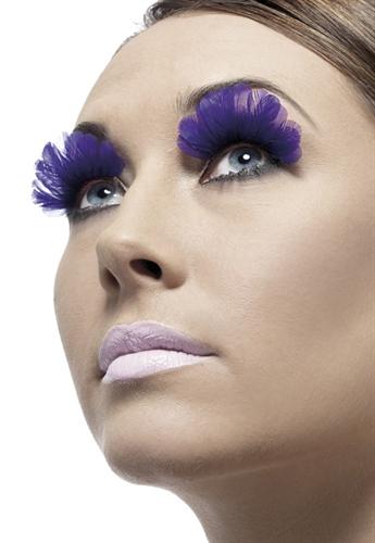 Fever Lingerie Eyelashes Feather Purple