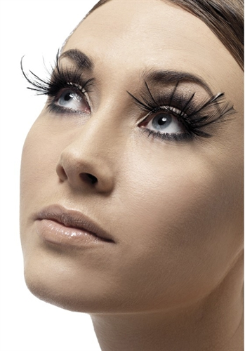 Fever Lingerie Eyelashes Feather Plume Black