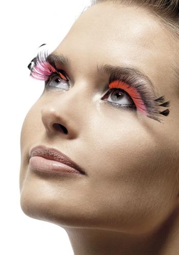 Fever Lingerie Eyelashes Feather Plume Pink