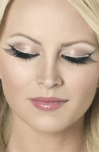 Fever Lingerie Eyelashes Glitter Black