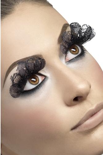 Fever Lingerie Eyelashes Large Lace Black
