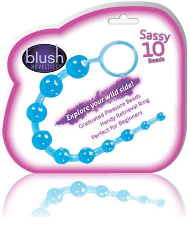 Blush Novelties Sassy 10 Anal Beads Blue