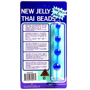 Golden Triangle New Jelly Thai Beads Blue