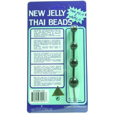 Golden Triangle New Jelly Thai Beads Black
