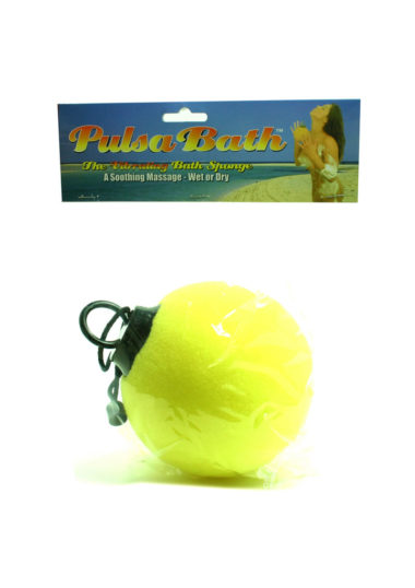 Golden Triangle Pulsa Bath Vibrating Sponge Yellow