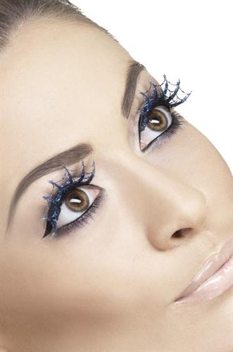 Fever Lingerie Spiderwebs Eyelashes Blue
