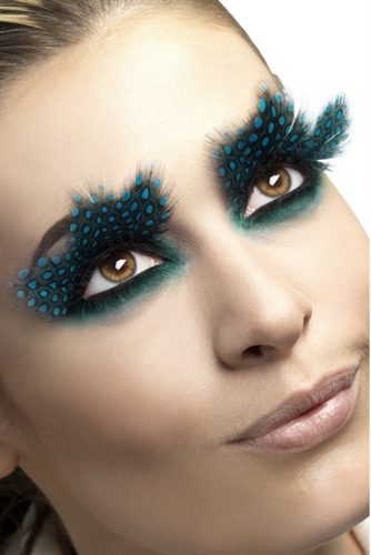 Fever Lingerie Large Aqua Dots Feather Eyelashes