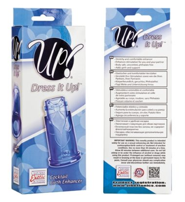 California Exotics Up Dress It Up Cocktail Girth Enhancer Blue