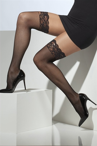 Fever Lingerie Fishnet Hold-Ups Black