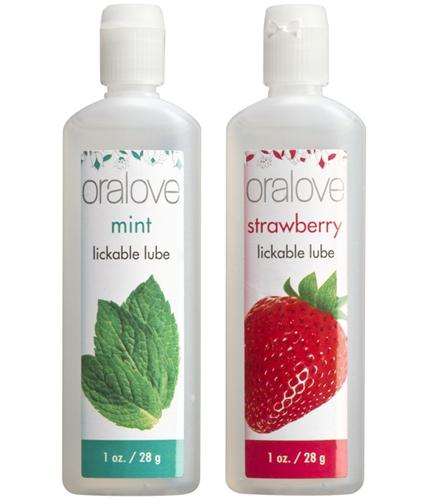 Doc Johnson Oralove Dynamic Duo Strawberry & Mint