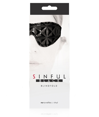 NS Novelties Sinful Blindfold Black