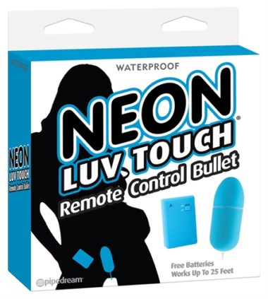 Pipedream Neon Luv Touch Remote Control Bullet Blue