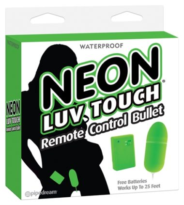 Pipedream Neon Luv Touch Remote Control Bullet Green
