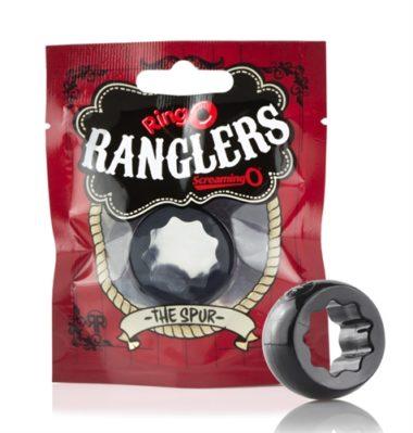 Screaming O Ringo Ranglers Spur Cock Ring Black
