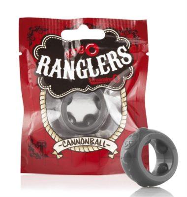 Screaming O Ringo Ranglers Cannonball Cockring Grey