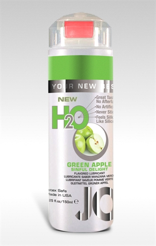 System JO H2O Water-Based Flavored Lubricant Green Apple