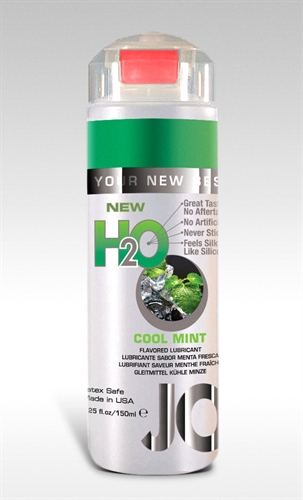 System JO H2O Water-Based Flavored Lubricant Cool Mint