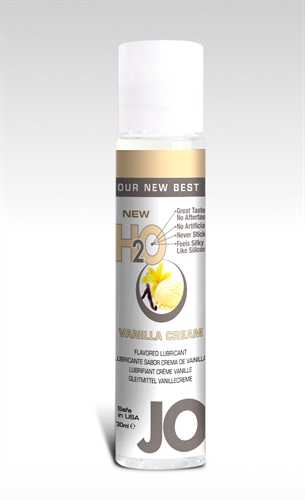 System JO H2O Water-Based Flavored Lubricant Vanilla Cream