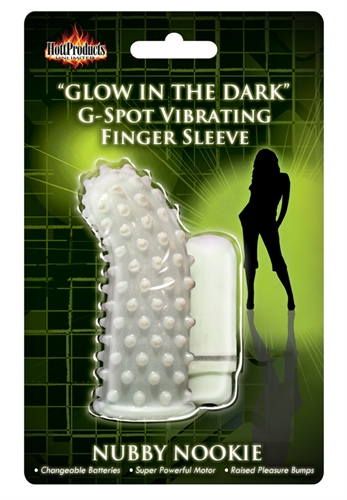 Hott Products Vibrating Nooby Nookie Finger Sleeve Glow-In-The-Dark