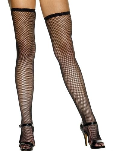 Fever Lingerie Fishnet Stockings Black
