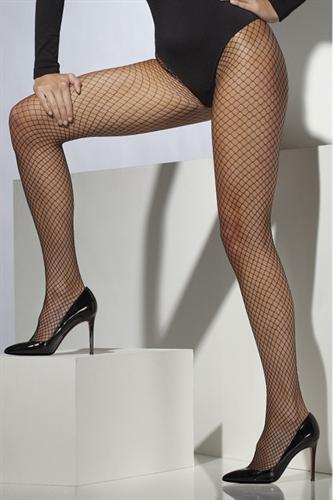 Fever Lingerie Lattice Net Thighs Black