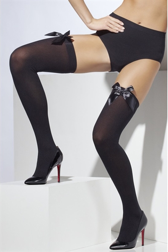 Fever Lingerie Thigh High Stockings With Bow