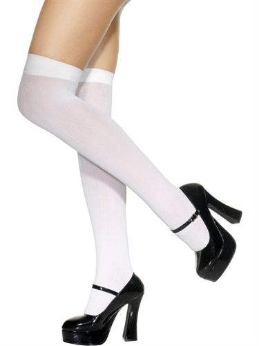 Fever Lingerie Knee High Stockings White
