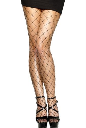 Fever Lingerie Diamond Net Tights Black