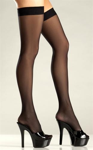Be Wicked Sheer Stockings Black