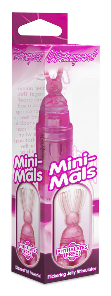 Pipedream Mini-Mals Bunny Rocket Pink